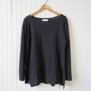 Everlane Long Sleeve Boatneck 100% Linen Tshirt